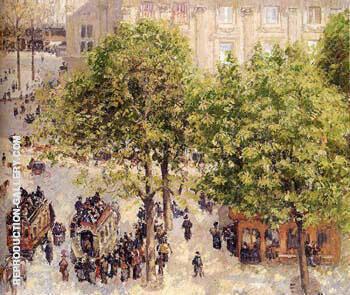 Place du Theatre-Francais Spring By Camille Pissarro
