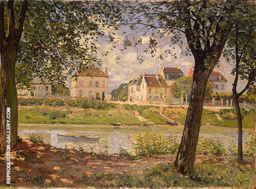 Villneuve la Garenne 1872 Painting By Alfred Sisley - Reproduction Gallery