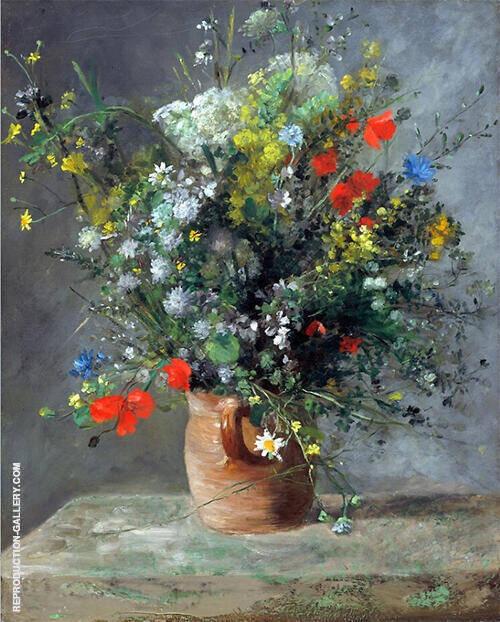 Flowers in a Vase 1866 Painting By Pierre Auguste Renoir