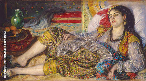 Odalisque 1870 By Pierre Auguste Renoir - Oil Paintings & Art Reproductions - Reproduction Gallery