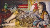 Odalisque 1870 By Pierre Auguste Renoir