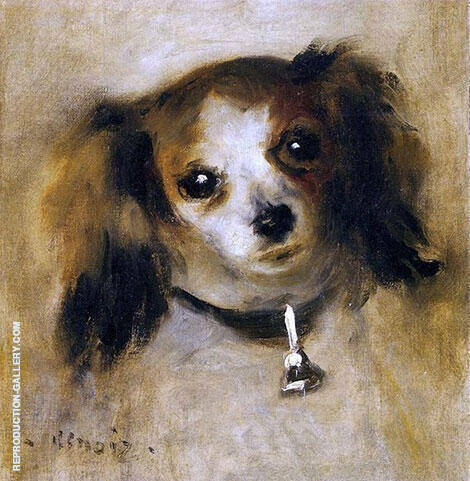 Head of a Dog 1870 By Pierre Auguste Renoir