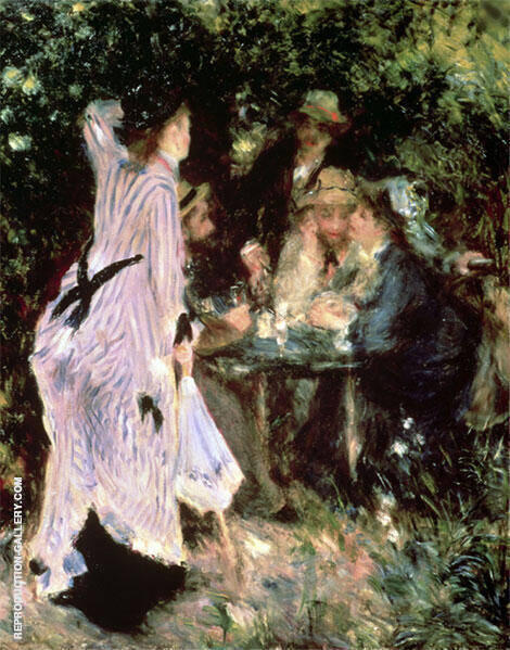 In the Garden Under the Trees of the Moulin de la Galette Painting By ...