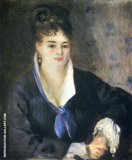 Lady in Black 1876 By Pierre Auguste Renoir