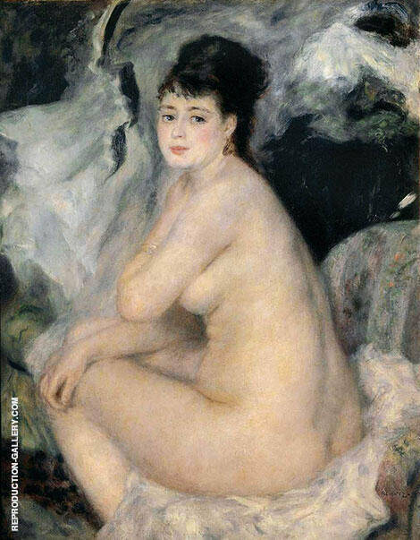Nude Anna 1876 By Pierre Auguste Renoir Replica Paintings on Canvas - Reproduction Gallery