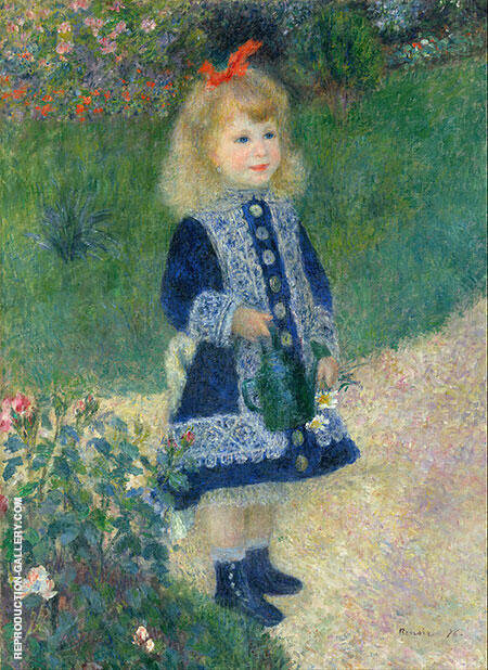 A Girl with a Watering Can 1876 Painting By Pierre Auguste Renoir