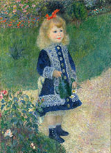 A Girl with a Watering Can 1876 By Pierre Auguste Renoir