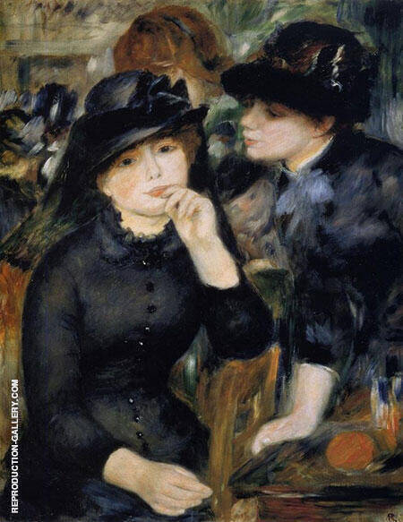 Girls in Black 1880 By Pierre Auguste Renoir