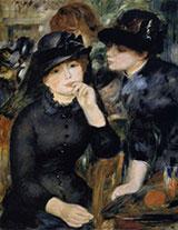 Girls in Black 1880 By Pierre Auguste Renoir