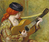 Young Spanish Woman with a Guitar 1898 By Pierre Auguste Renoir