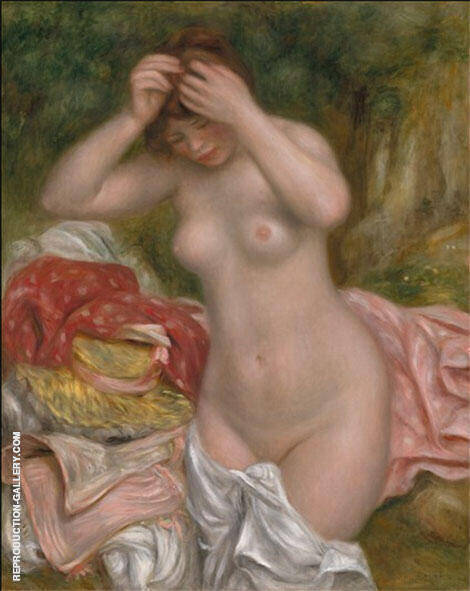 Bather Arranging Her Hair 1893 Painting By Pierre Auguste Renoir