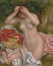 Bather Arranging Her Hair 1893 By Pierre Auguste Renoir