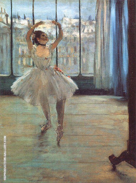Dancer Posing for a Photographer aka Dancer Before the Window 1874 By Edgar Degas