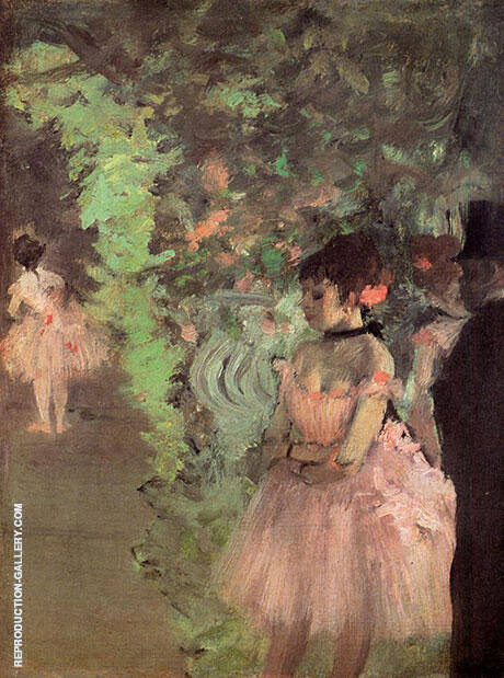 Dancers Backstage 1890 By Edgar Degas