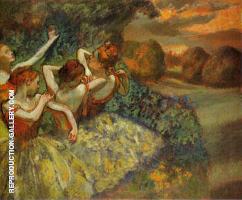 Four Dancers 1899 By Edgar Degas - Oil Paintings & Art Reproductions - Reproduction Gallery