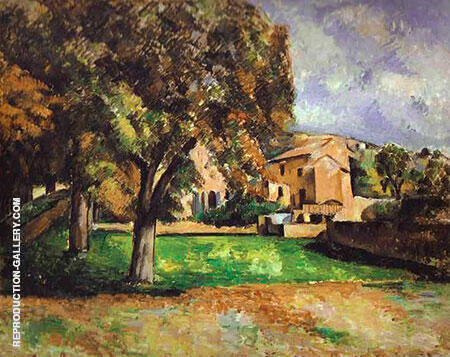 Trees in a Park 1885 By Paul Cezanne