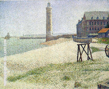 The Lighthouse at Honfleur 1886 By Georges Seurat