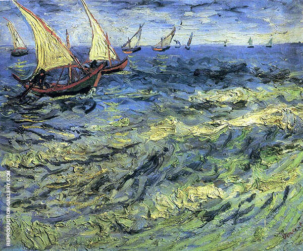 Seascape Saintes Marie 1888 By Vincent van Gogh