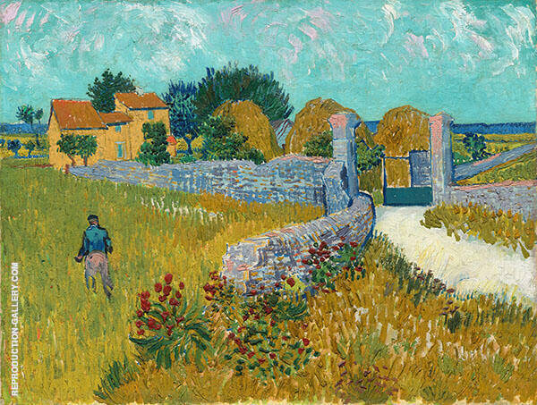 Farmhouse in Provence Arles 1888 Painting By Vincent van Gogh