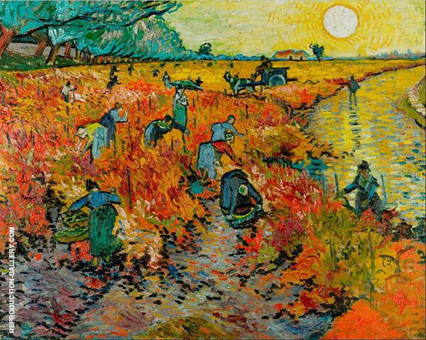 Red Vineyard at Arles 1888 By Vincent van Gogh