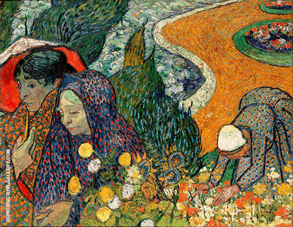 Ladies of Arles Memory of the Garden at Etten 1888 By Vincent van Gogh