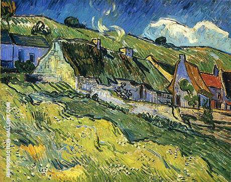 A Group of Cottages 1890 Painting By Vincent van Gogh