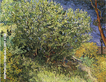 Lilac Bush 1890 By Vincent van Gogh - Oil Paintings & Art Reproductions - Reproduction Gallery