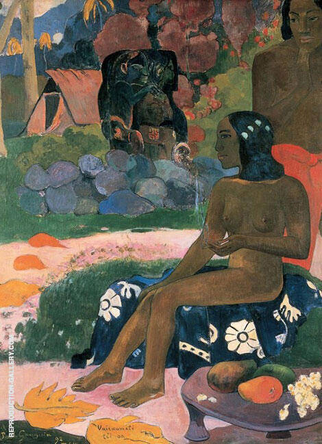 Her Name is Vairaumati By Paul Gauguin Replica Paintings on Canvas - Reproduction Gallery