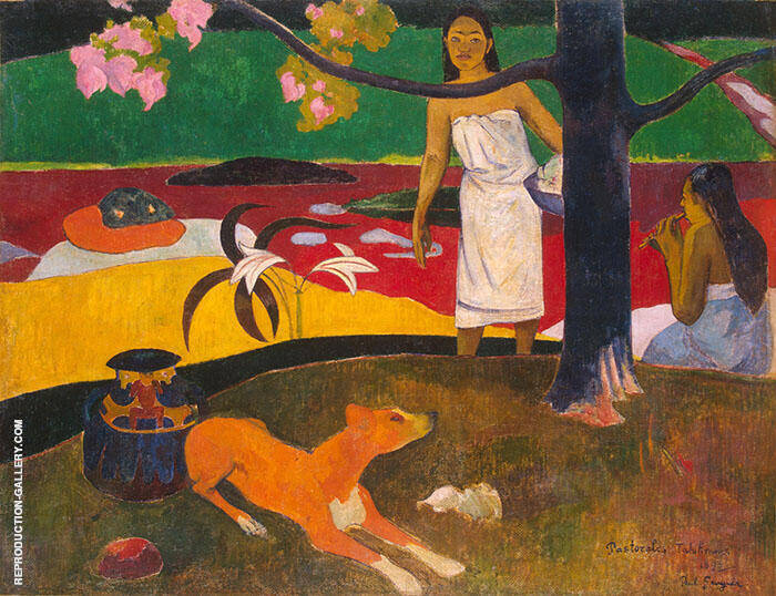 Tahitian Pastorale Painting By Paul Gauguin - Reproduction Gallery
