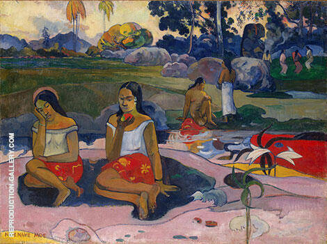 Sweet Dreams Nave Nave Moe By Paul Gauguin - Oil Paintings & Art Reproductions - Reproduction Gallery