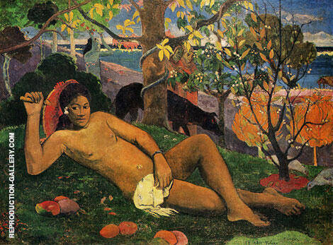 The King's Wife Te Arii Vahine Painting By Paul Gauguin