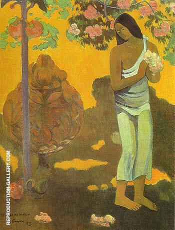 The Month of Mary [Te avae no Maria] By Paul Gauguin Replica Paintings on Canvas - Reproduction Gallery