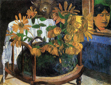 Sunflowers 1901 By Paul Gauguin - Oil Paintings & Art Reproductions - Reproduction Gallery