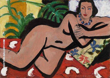 Nude with Blue Eyes Painting By Henri Matisse - Reproduction Gallery
