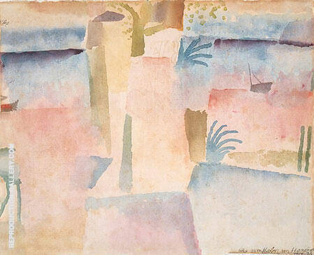 Port of Hammamet By Paul Klee - Oil Paintings & Art Reproductions - Reproduction Gallery