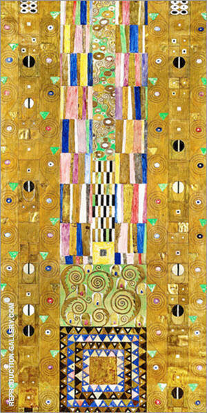 Stoclet Frieze Patterns Painting By Gustav Klimt - Reproduction Gallery