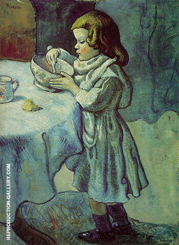 Le Gourmet 1901 By Pablo Picasso - Oil Paintings & Art Reproductions - Reproduction Gallery