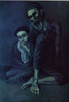 Old Jew and a Boy 1903 By Pablo Picasso