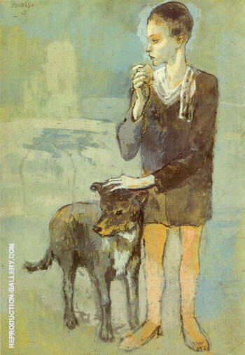 Boy with Dog 1905 Painting By Pablo Picasso - Reproduction Gallery