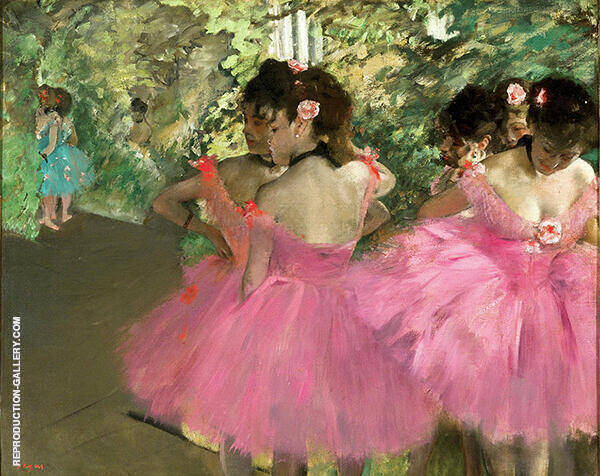 Dancers in Pink c1880 Painting By Edgar Degas - Reproduction Gallery