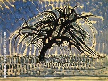 Blue Tree c1908 By Piet Mondrian