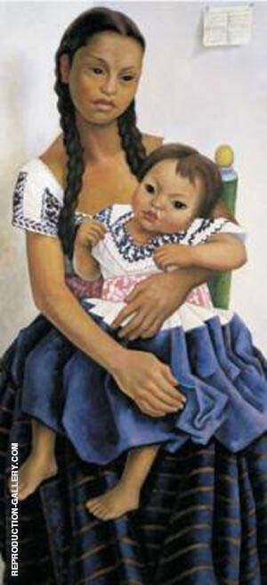 Portrait of Delfina Flores By Diego Rivera