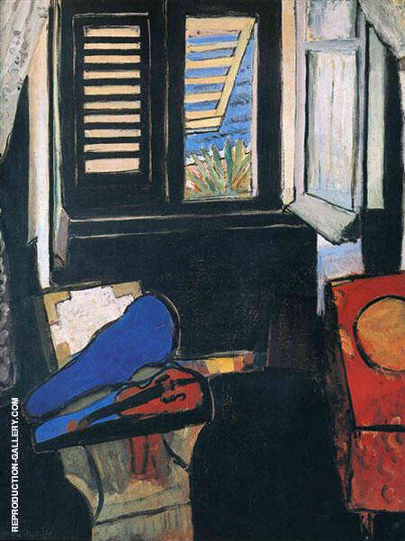 Reproduction of Interior with Violin 1917 by Henri Matisse | Oil Painting Replica On CanvasReproduction Gallery