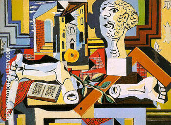 Studio with Plaster Head 1925 By Pablo Picasso - Oil Paintings & Art Reproductions - Reproduction Gallery
