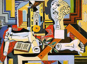Studio with Plaster Head 1925 By Pablo Picasso