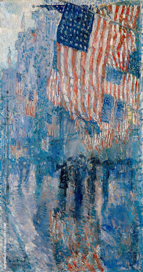 Avenue in the Rain 1917 By Childe Hassam