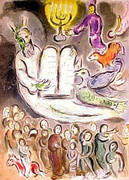 Moses and the Ten Commandments By Marc Chagall