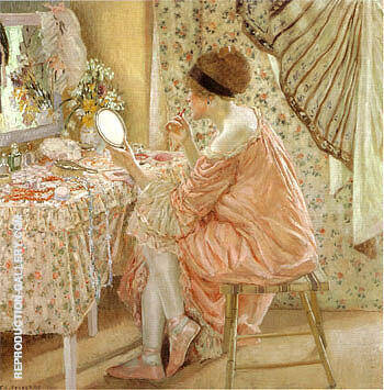 Before Her Appearance La Toilette 1913 By Frederick Carl Frieseke
