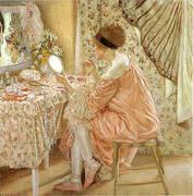Before Her Appearance La Toilette 1913 By Frederick Carl Frieseke