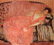 Portrait of madame Gely On the Couch By Frederick Carl Frieseke